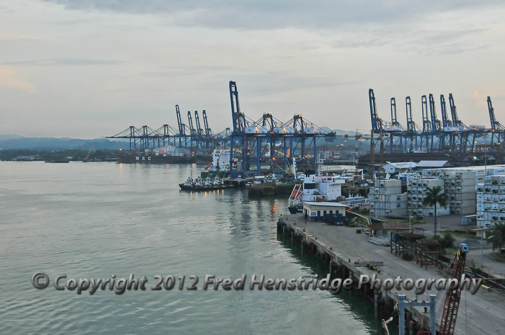 Entering the Panama Canal from the Pacific Ocean at Panama Bay