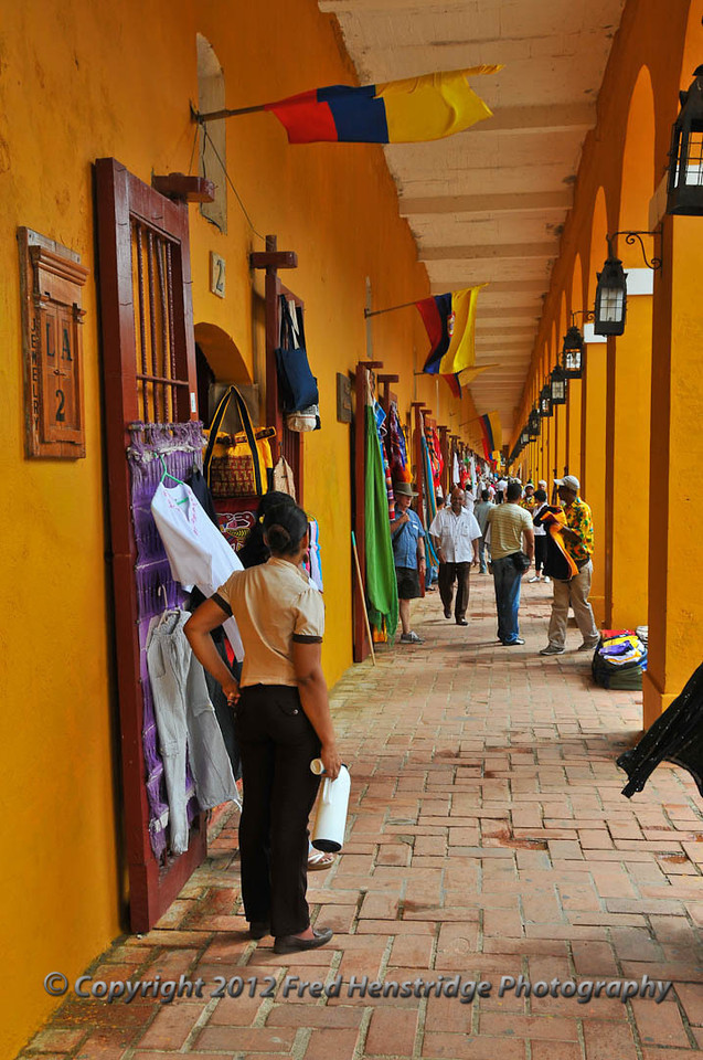 Las Bóvedas shopping district, old town Cartagena