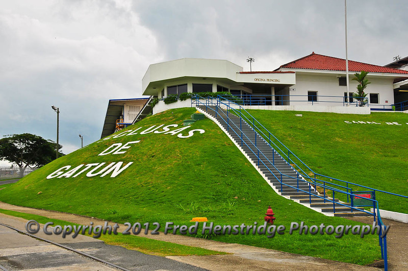 The entrance to Gatun Locks observation station