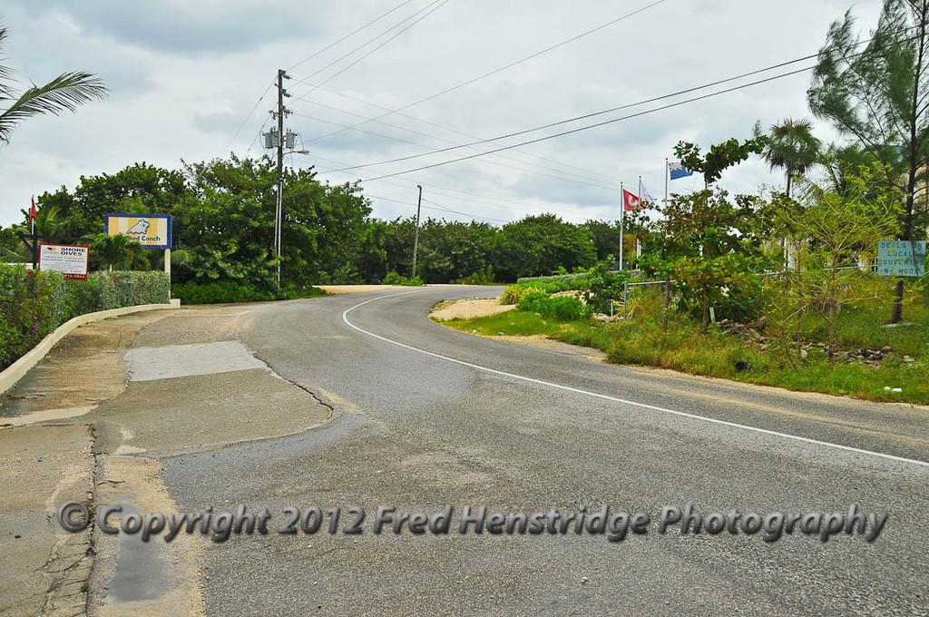 Grand Cayman road scene