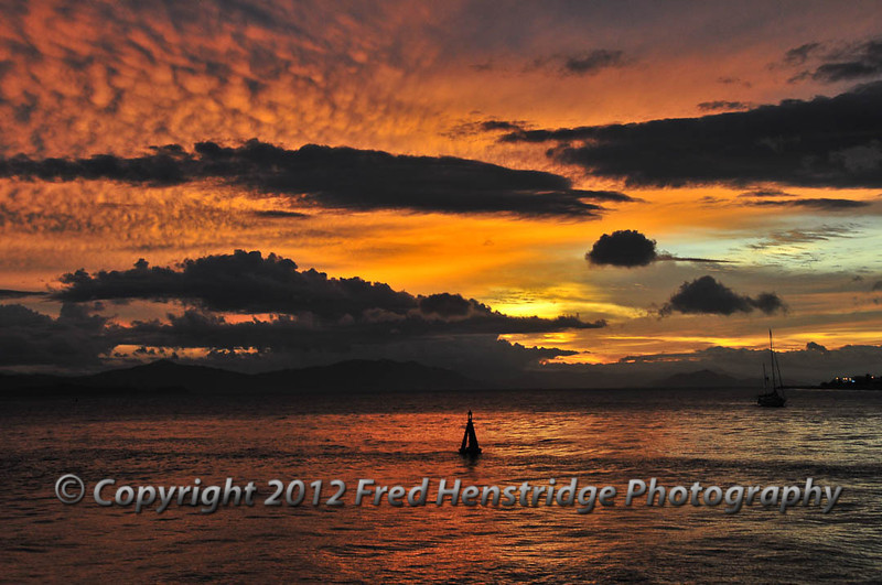 Sunset over Puntarenas harbor