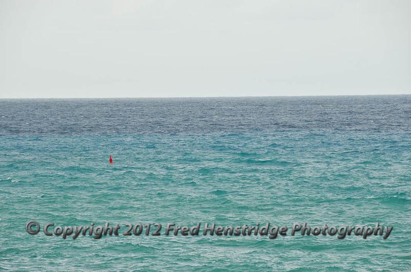 The sea changes color