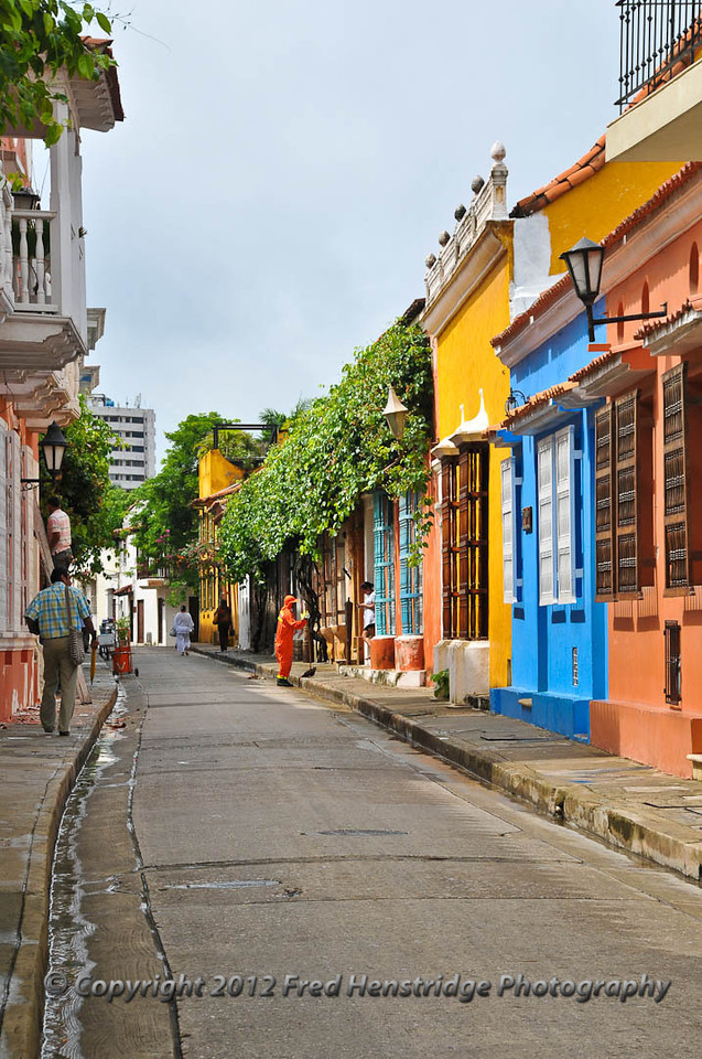Cartagena street scene in old town