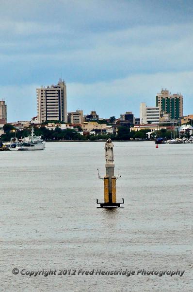 Statue of the Virgin Mary in Cartagena Harbor