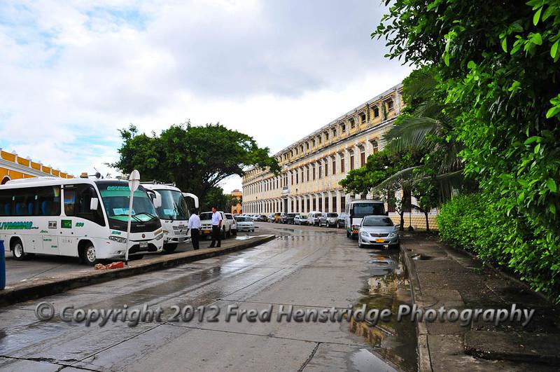 Cartagena street scene in old town