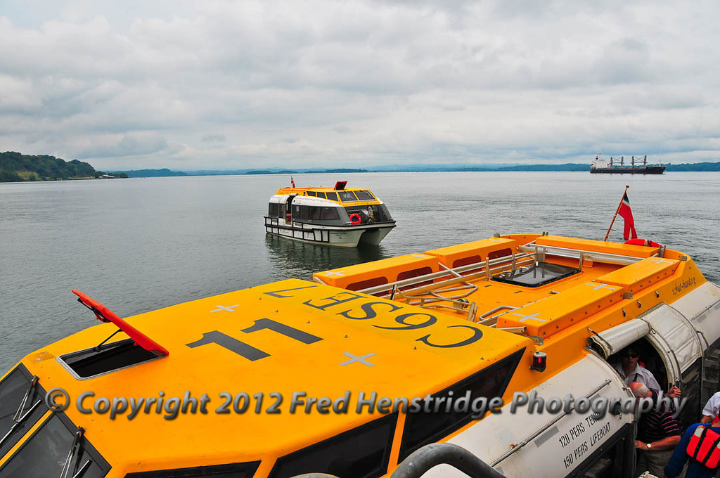 The tender that will take us to the shores of Gatun Lake
