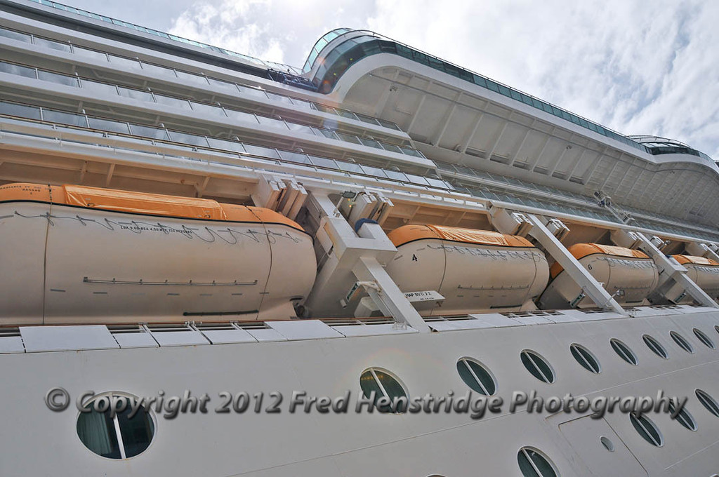 Looking up at the Radience of the Seas