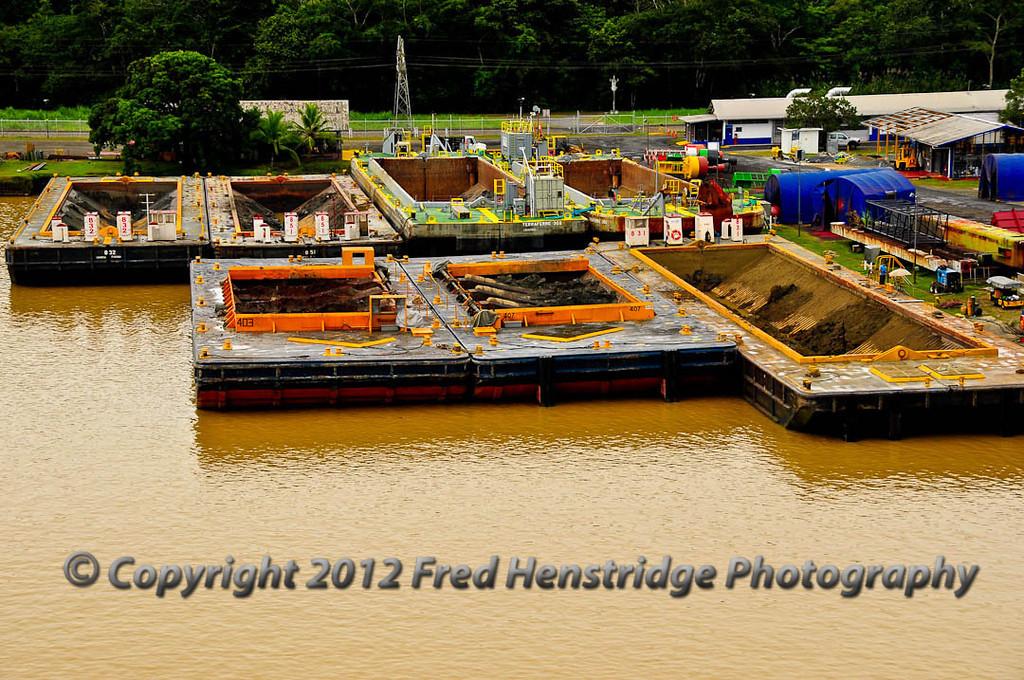 Dredging barges