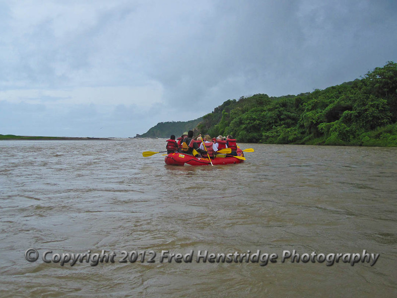 Wild river rafting on the Copalita River