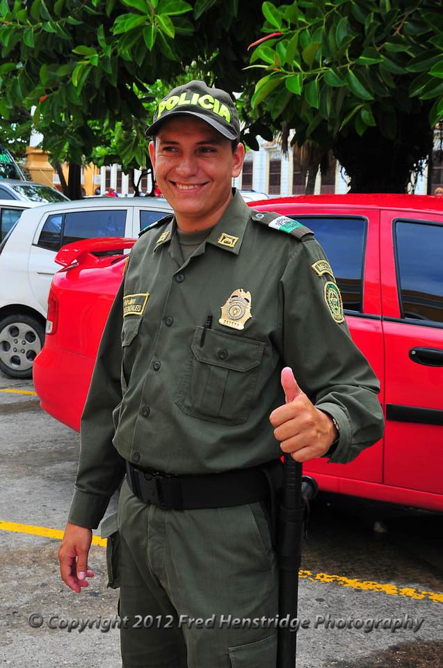 Cartagena policeman