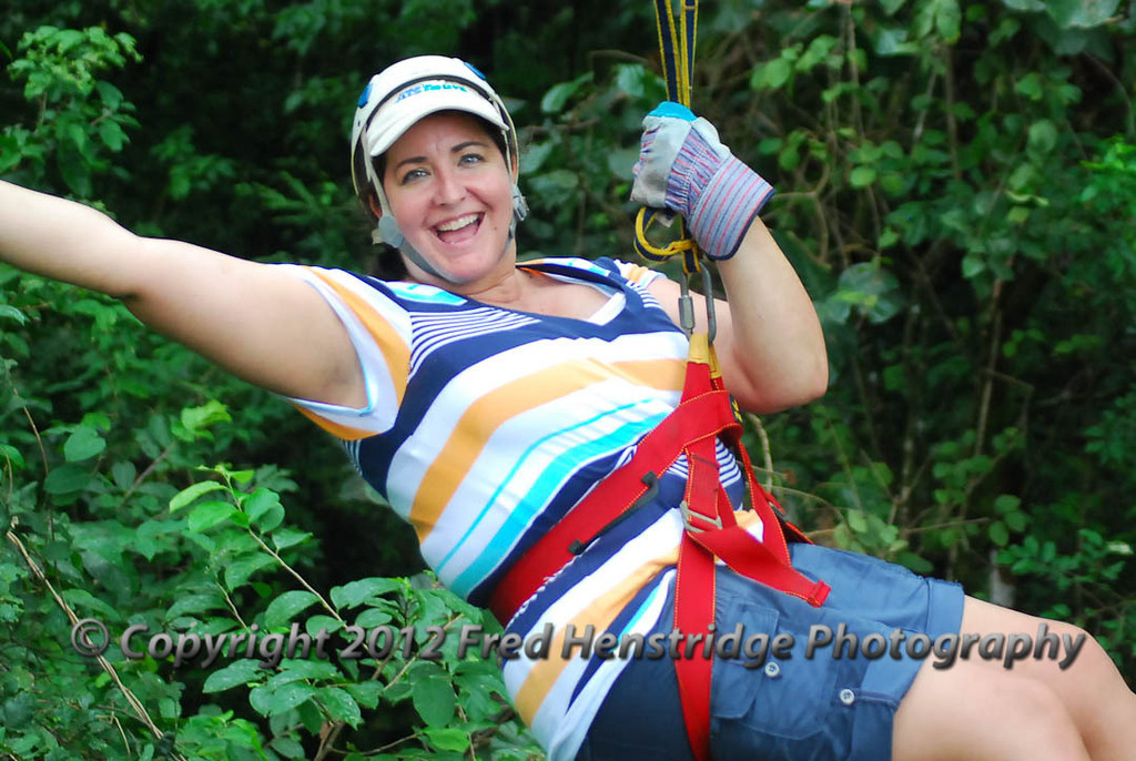 Gwen on the Zip Line