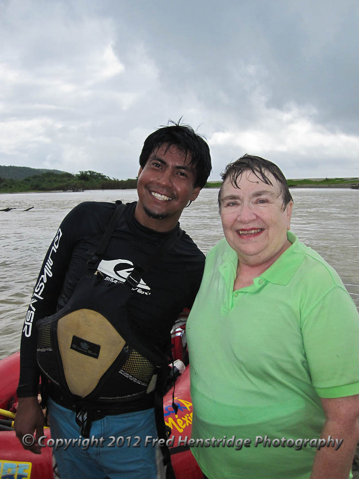 Kathy and Arturo, our raft guide
