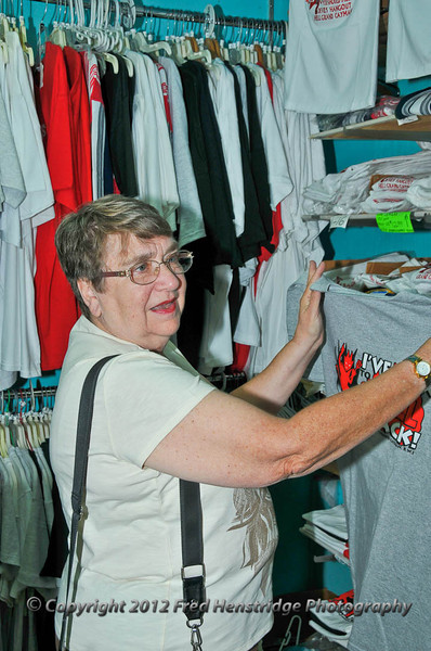 Kathy shopping in Hell