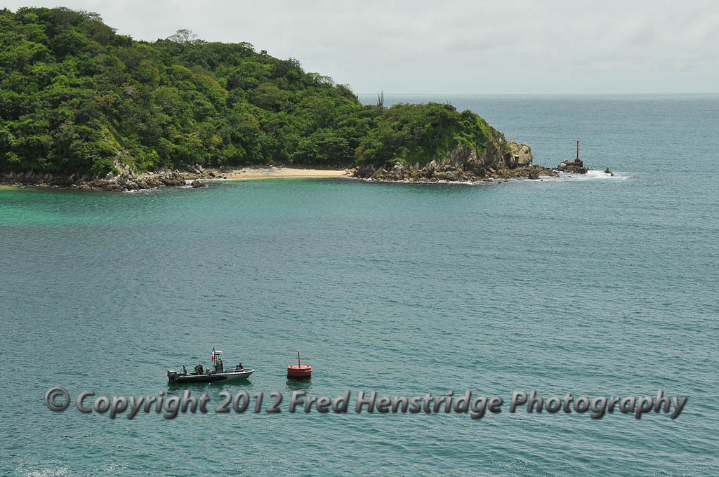 Entrance to Huatulco harbor