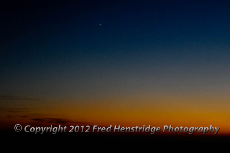 Venus, the evening star rising in the western sky