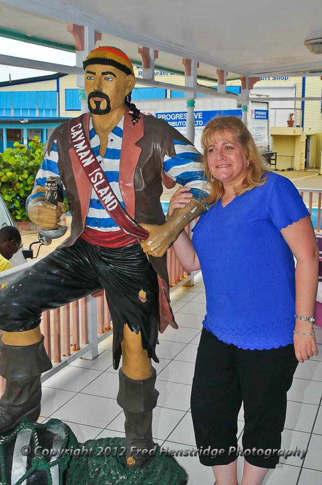 Lisa at the rum cake store