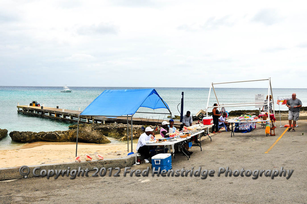 Souvenir sellers on the beach