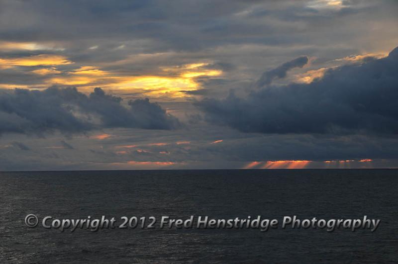 Sunset off the coast of Nicaruga
