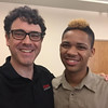 Community mentor Eric Savage with RCSP student Khalil Eaddy '20