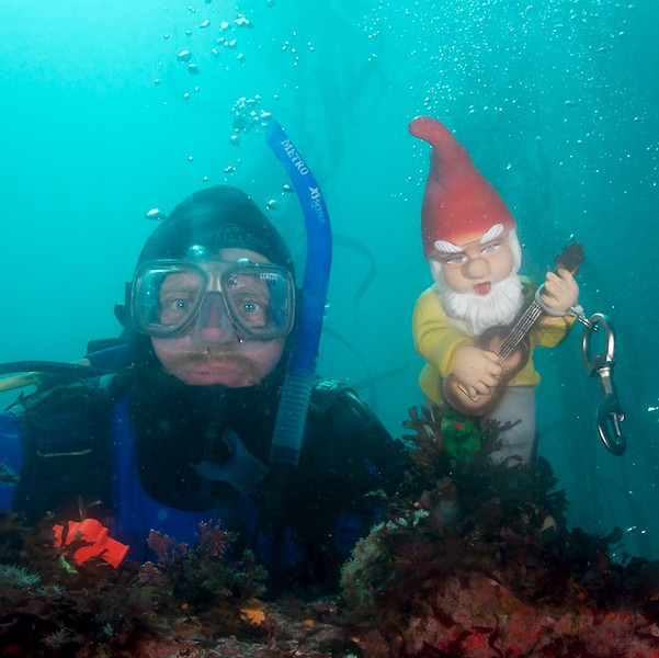 Keith and his dive buddy.
