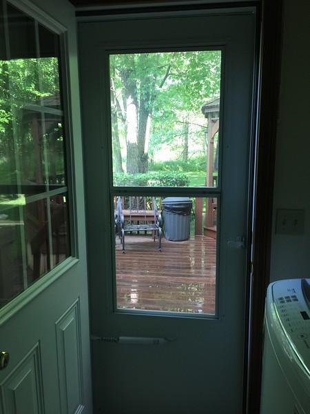New storm door and screen door
