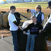 Wesley, Sara and Richard Till and Linda Bryant learn ballooning is HARD work.