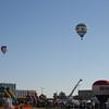 Balloons hover above NASA.