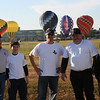 (Right) Richard Till of Williamson LP Gas of Dayton all smiles with his children, Wesley and Sara Till and Pilot, Phil Bryant (left) at Sunday mornings flight at the REMAX Ballunar Liftoff Festival attended by the Propane Exceptional Energy Hot Air Balloon and Propane Council of Texas.