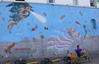 R CRONK MURAL WITH TRIKE TRAIN-WINDWARD AVE & SPEEDWAY