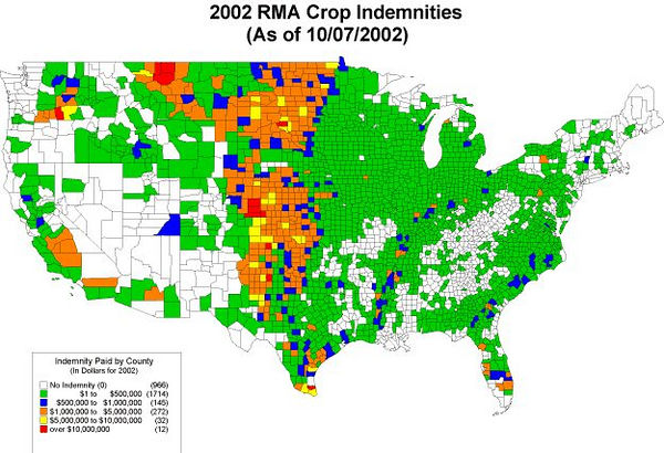 RMA crop indemnity