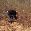 Tom at the WIneberry Pull at Montpelier 4/10/14. Man vs.Thorns!