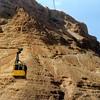 Kabelbaan naar Massada plateau