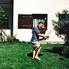 Ewald als tuinman