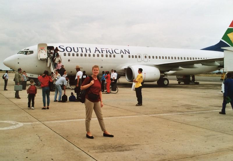 30 maart 2001 - via Frankfurt / Johannesburg naar WIndhoek