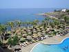Ons eerste hotel: Atlantica Golden Beach 10 km van Paphos en vlakbij Coral Bay.