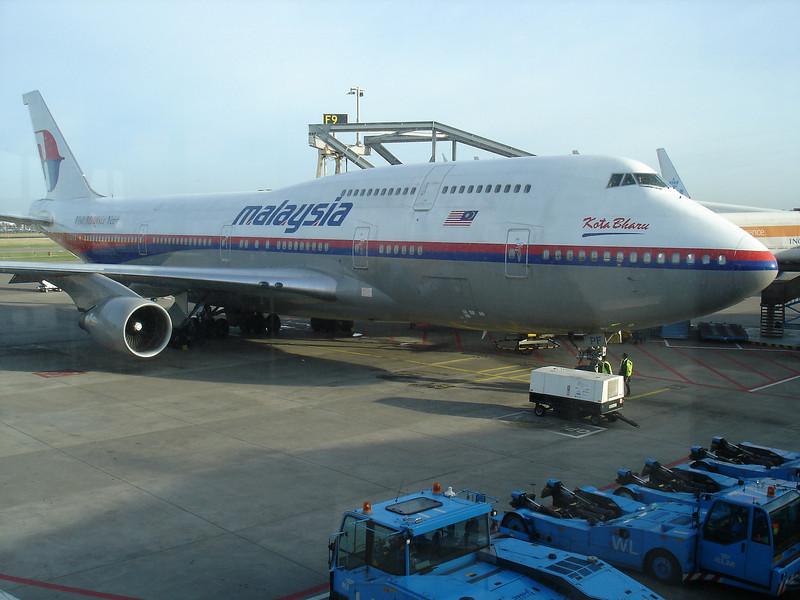 Zaterdag 26 januari 2008. Vertrek vanaf Schiphol met Malaysian Airlines naar Kuala Lumpur.