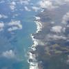 Eerste zicht op de kust van het Noorder Eiland van Nieuw Zeeland.