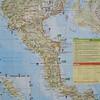 Een overzicht van Corfu. We hadden een appartement in Agios Gordios. Bij het pijltje op de kaart.