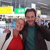 Michel kwam ons afduwen op Schiphol op zijn 33ste verjaardag!