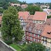 Uitzicht vanaf het slot en de St. Servatius Stiftskirche..