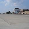 Fredericton Airport.  Wij bleken de enige internationale aankomst per week te zijn.
