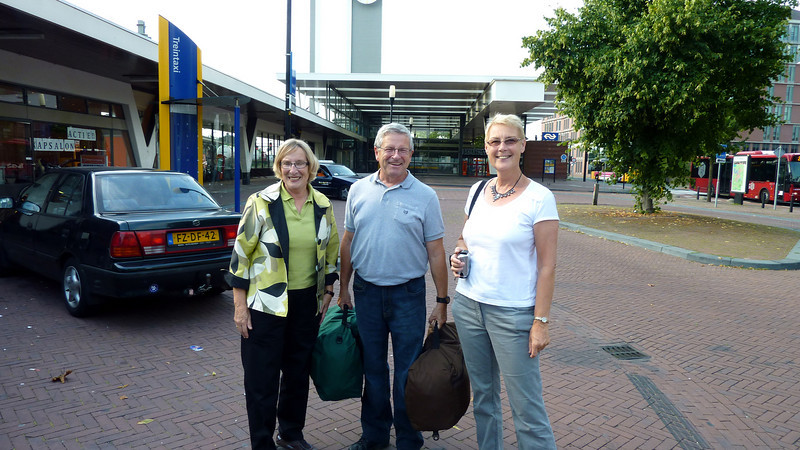 14/8 2010 Onze ruilpartners Bob en Joanne afgehaald van station Almelo