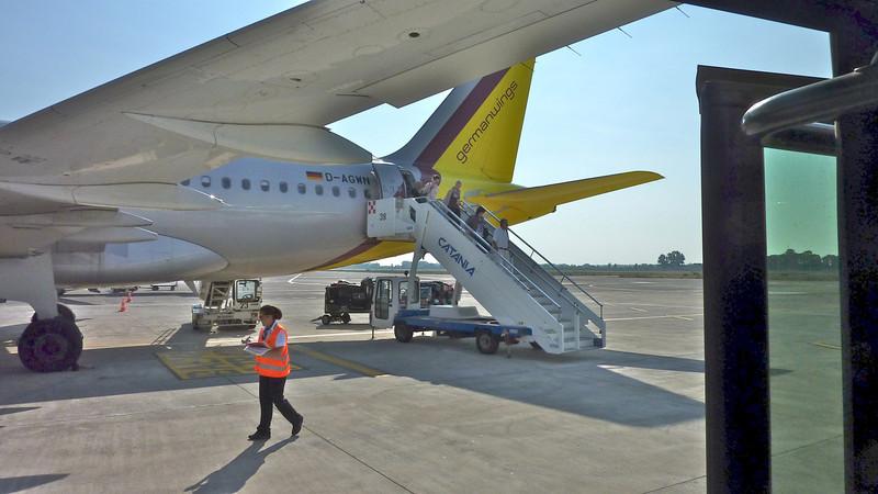 10 sept 2012. <br /> Met German Wings van Köln naar Sicilië.