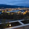 Uitzicht op Drammen rivier en Mjøndalen