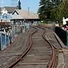 Petaluma waterfront tracks.