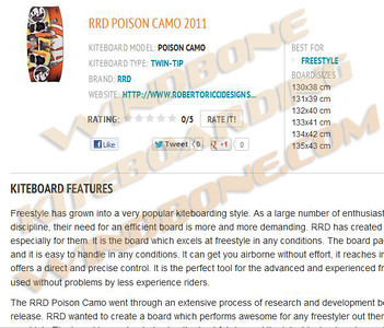 RRD Poison Camo Kiteboard