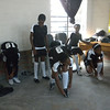 The young RV United team getting ready for one of their first 5-a-side matches at the Khayelitsha Football For Hope Centre, March 2012