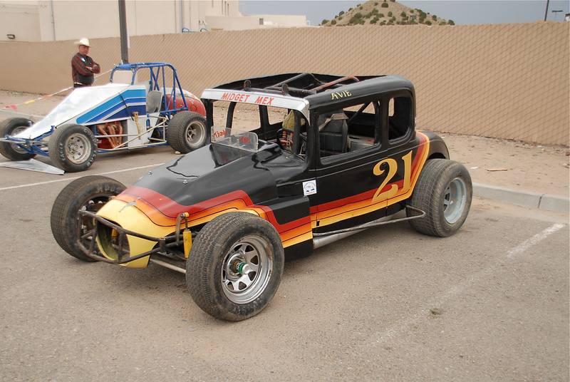 Avie Chavez brought his old sportsman from Speedway park