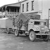 New Zealand Expedition truck and mobile 4-Yagi Antenna possibly on transit from the University of Sydney to the docks for loading and transit to New Zealand (1948).