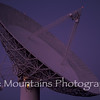 The 130 foot radio telescope at dusk, October 3, 1998.